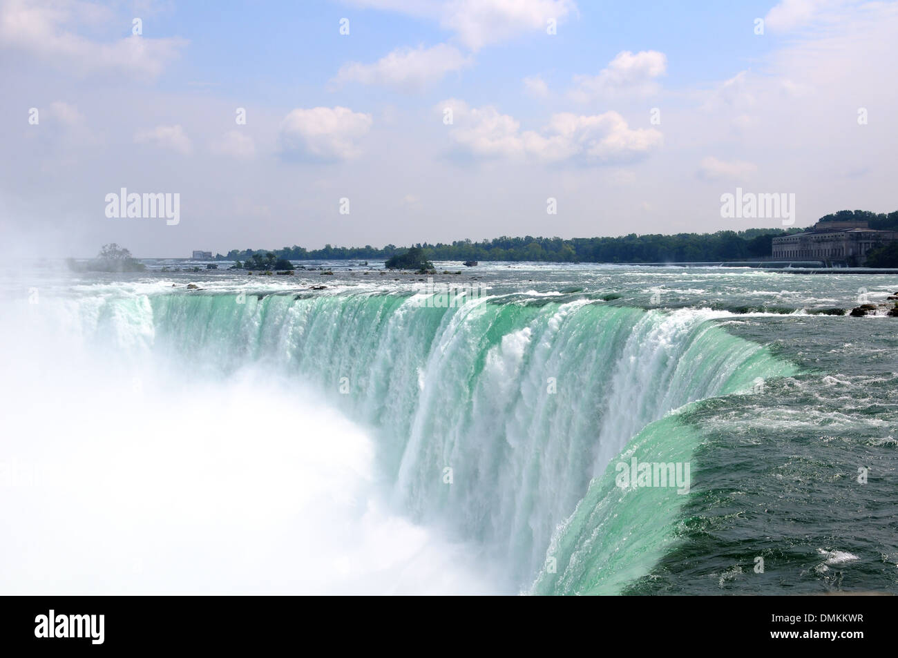 The edge of Niagara Falls, Canada - Stock Image