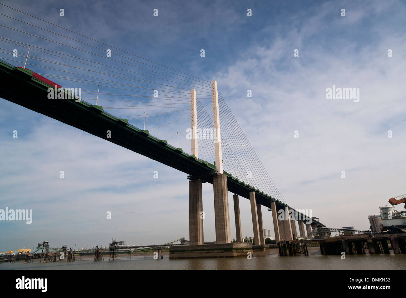Dartford Crossing Queen Elizabeth 11 Bridge Kent - Stock Image
