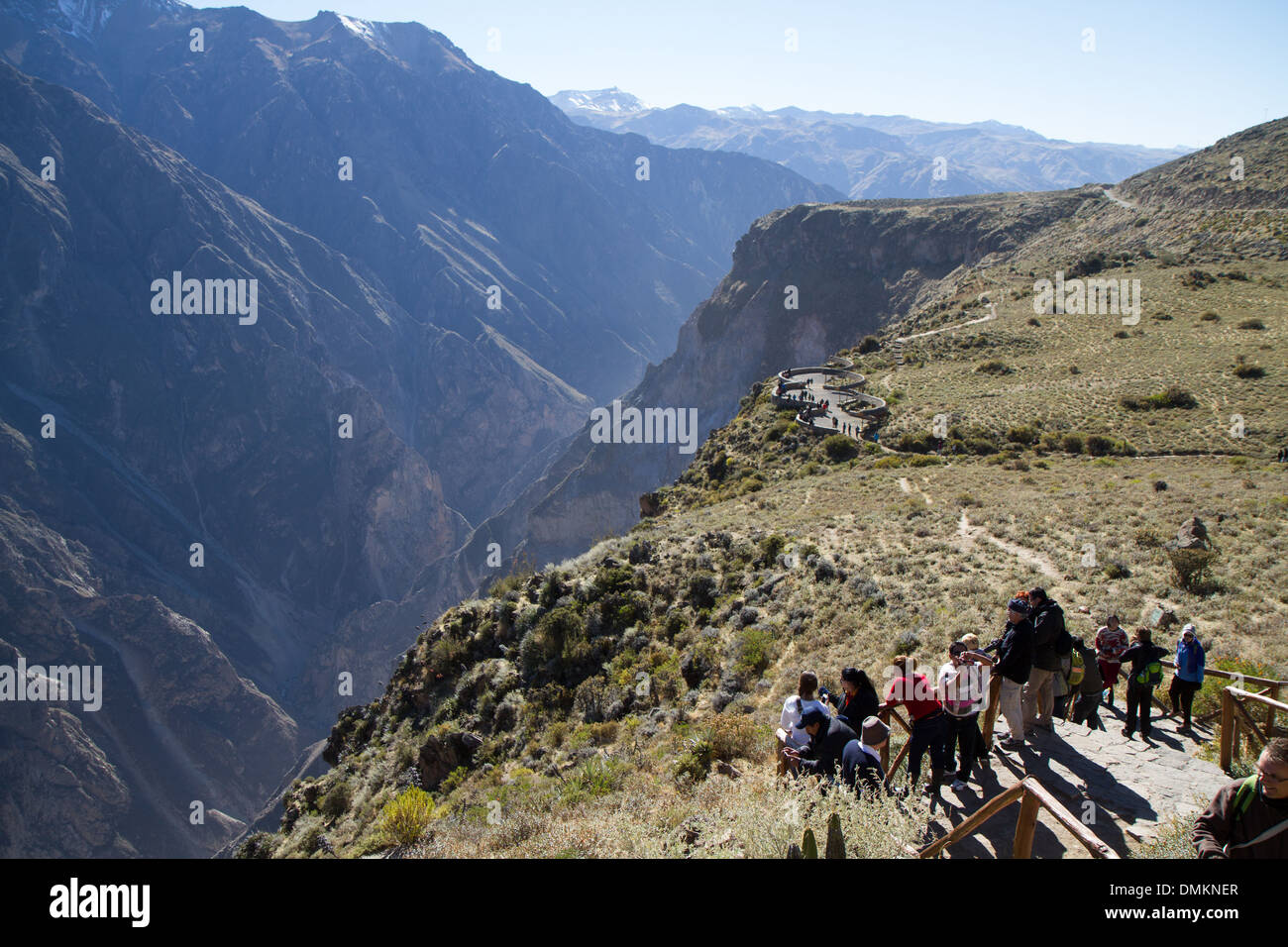 Cruz del Condor, Viewpoint at Colca Canyon, Peru - Stock Image