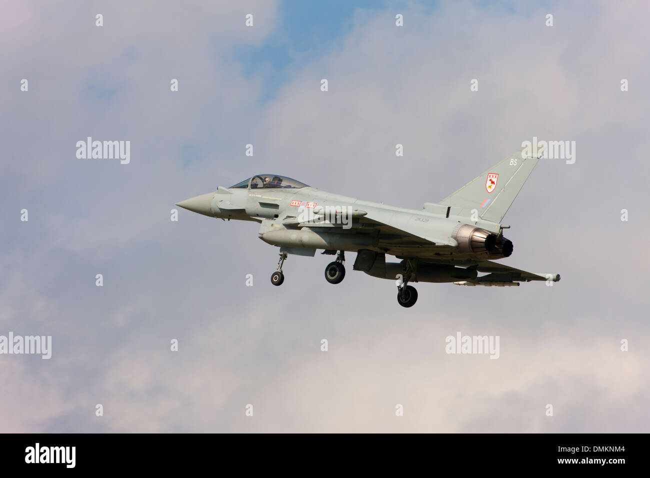 Eurofighter Typhoon FGR4 ZA328 BS landing at RAF Conningsby - Stock Image