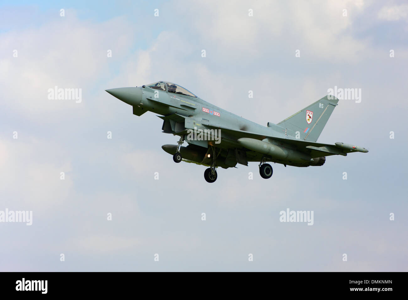 Eurofighter Typhoon FGR4 ZK328 BS landing at RAF Conningsby - Stock Image