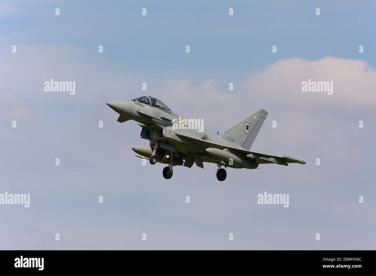 Eurofighter Typhoon FGR4 ZK305  DE landing at RAF Conningsby - Stock Image
