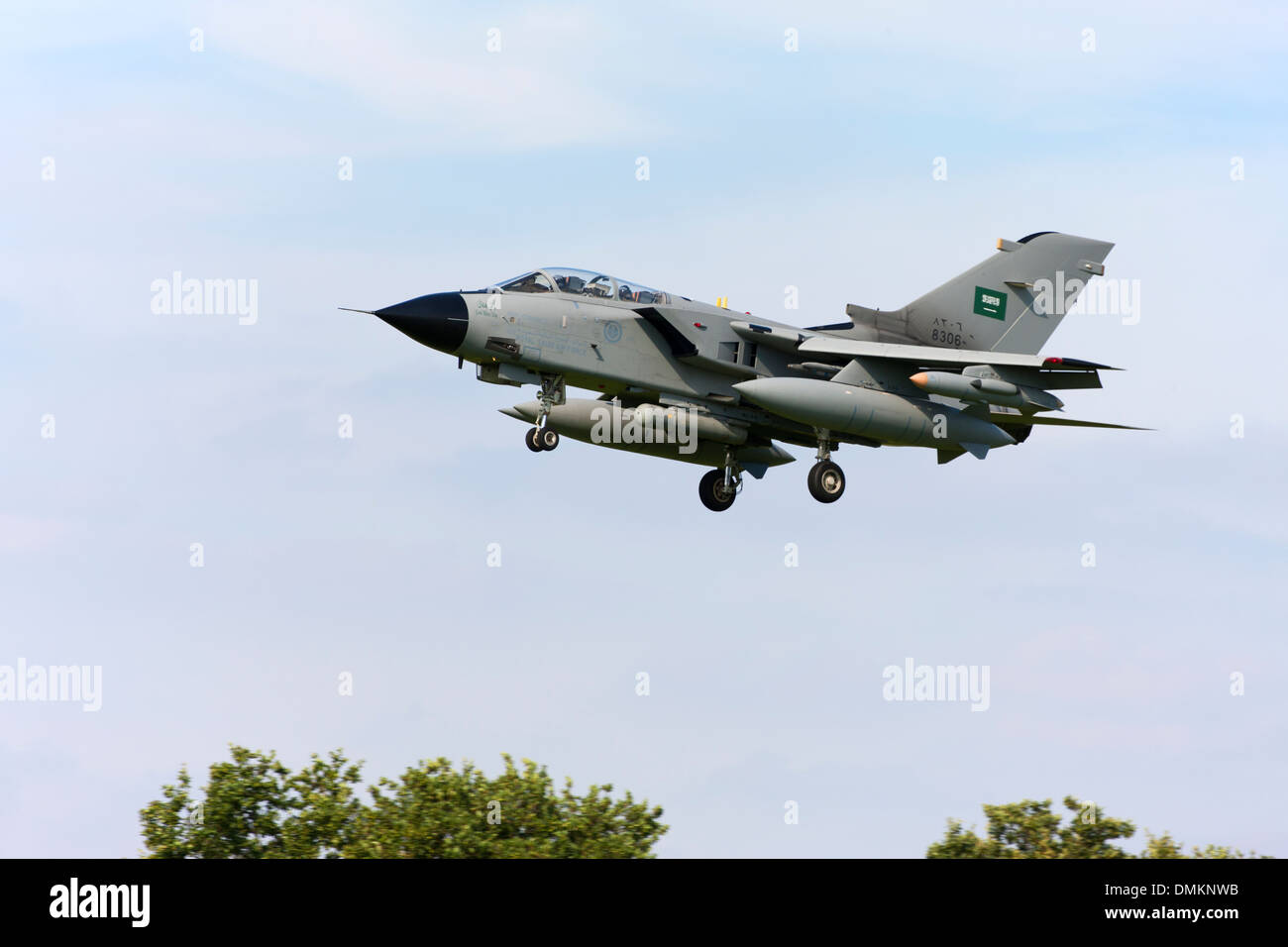 Panavia Tornado IDS 8306 of the Royal Saudi Air Force landing at RAF Conningsby - Stock Image