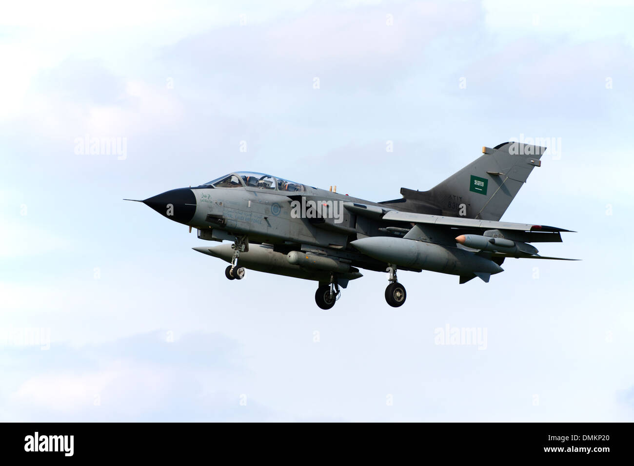 Panavia Tornado IDS 8312 of the Royal Saudi Air Force landing at RAF Conningsby - Stock Image