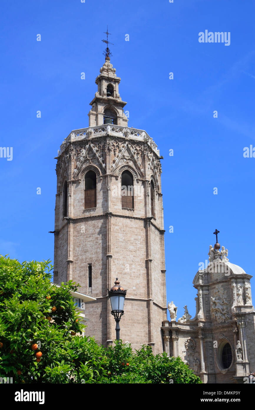 Torre Miguelete, Cathedral, Valencia, Spain, Europe Stock Photo