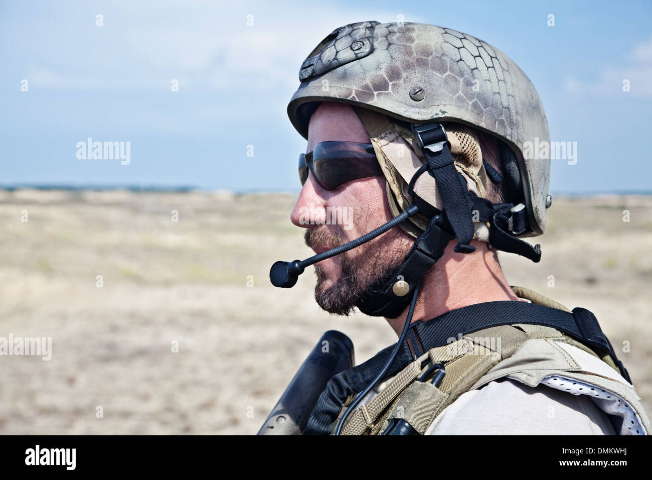 SEAL team member - Stock Image