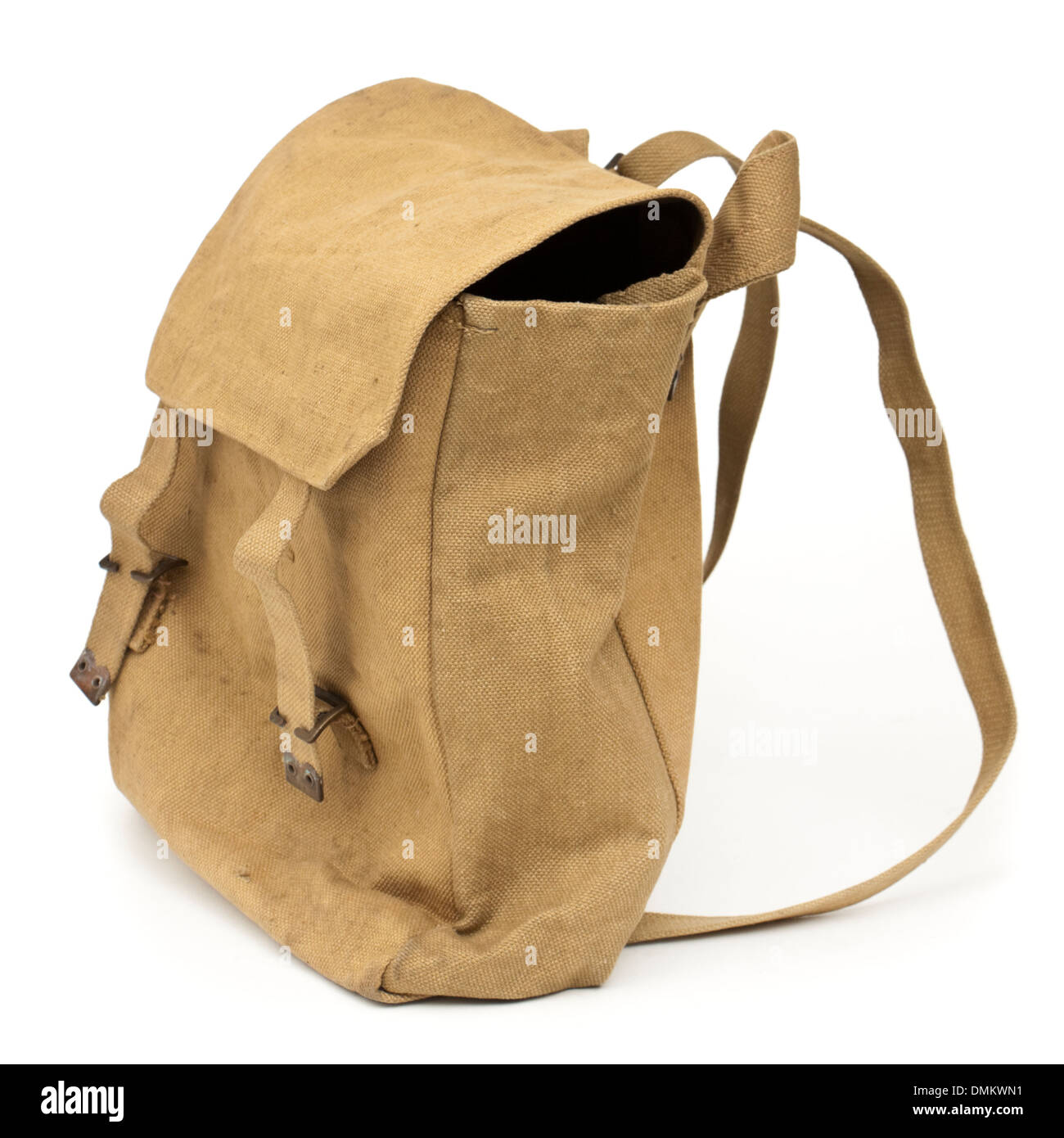 Authentic WW2 British Army / Home Guard issued canvas bag from 1943 - Stock Image