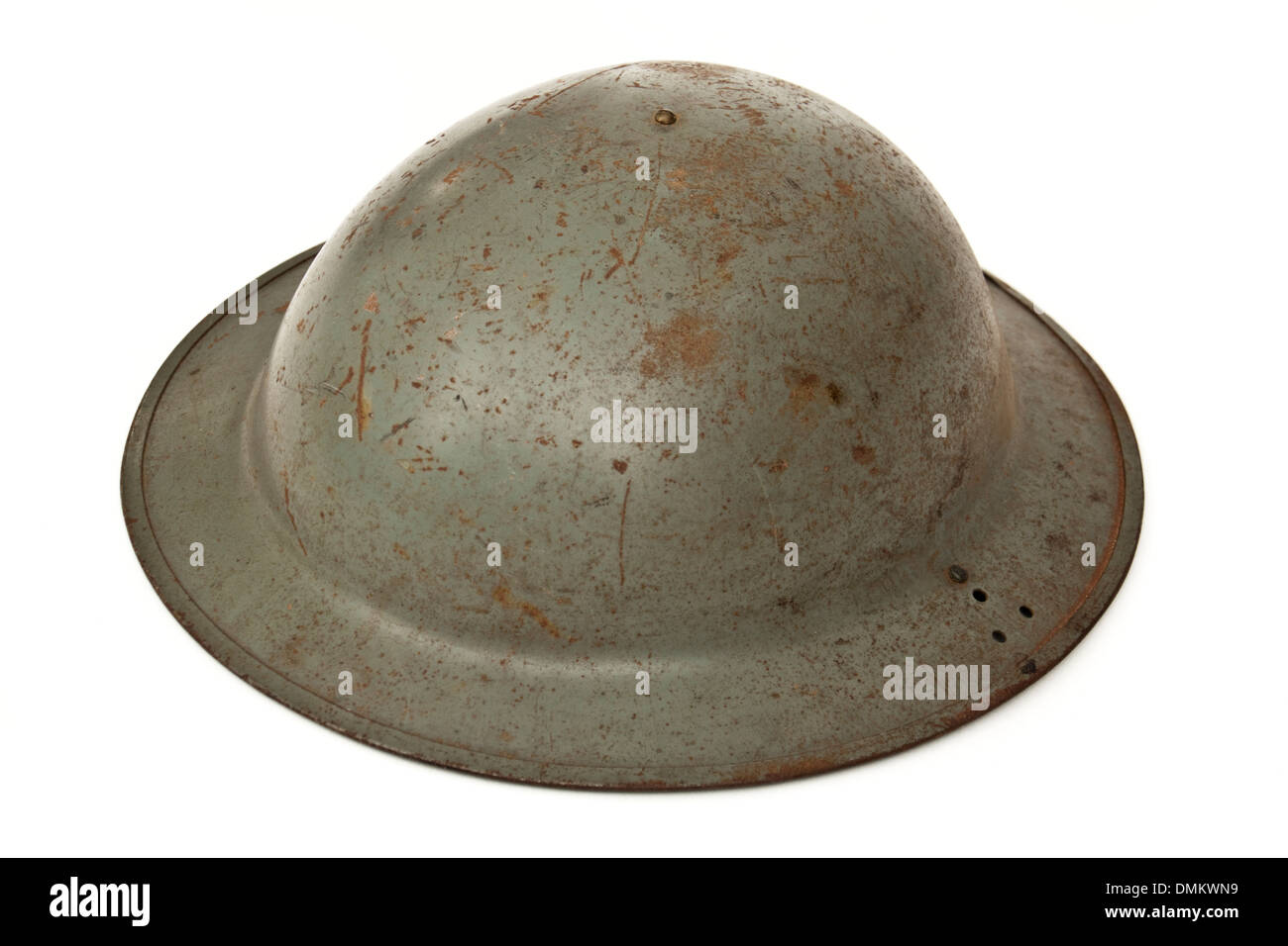 Authentic WW2 British Army / Home Guard Brodie helmet from 1943 - Stock Image
