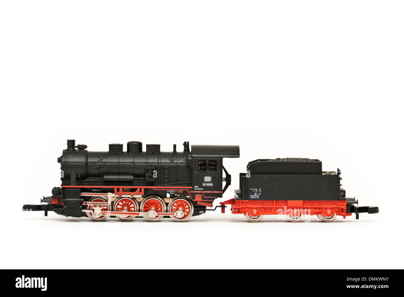 Marklin Z-scale mini-club 88980 Deutsche Bahn Class 5525 freight steam locomotive and tender from 2001 - Stock Image