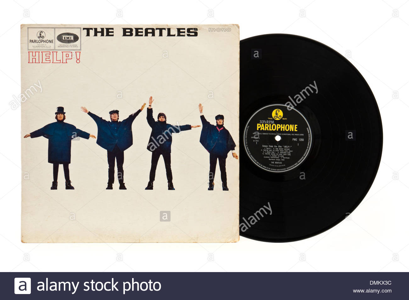 'Help' LP by The Beatles, the original 1965 mono version - Parlophone PMC1255 (first pressing). - Stock Image