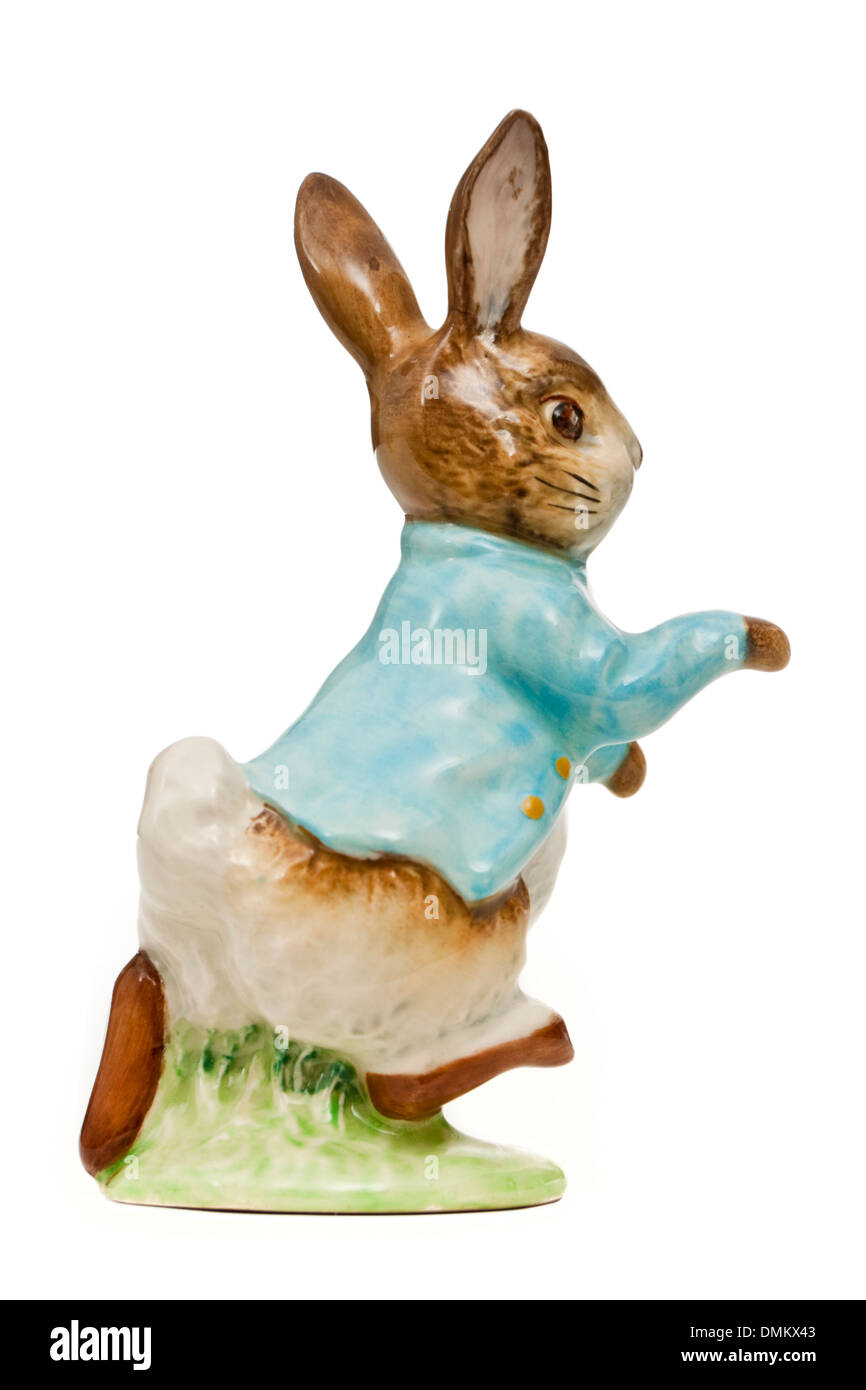 Vintage Beswick porcelain 'Peter Rabbit' figure from the Beatrix Potter series (1970-1982 period) - Stock Image