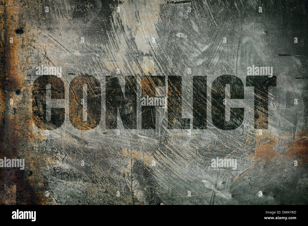 conflict - Stock Image