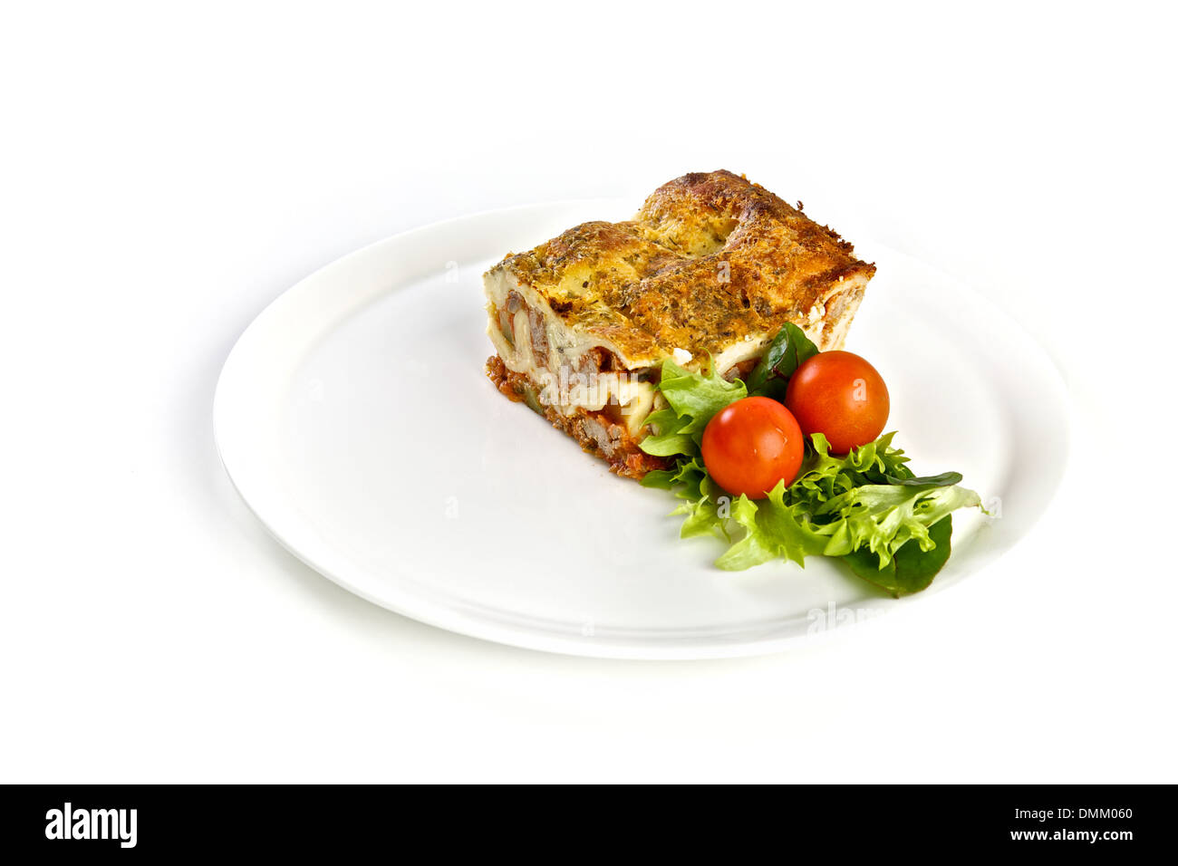 Delicious lasagna with a salad on a plate lunch or dinner  sc 1 st  Alamy & Delicious lasagna with a salad on a plate lunch or dinner Stock ...