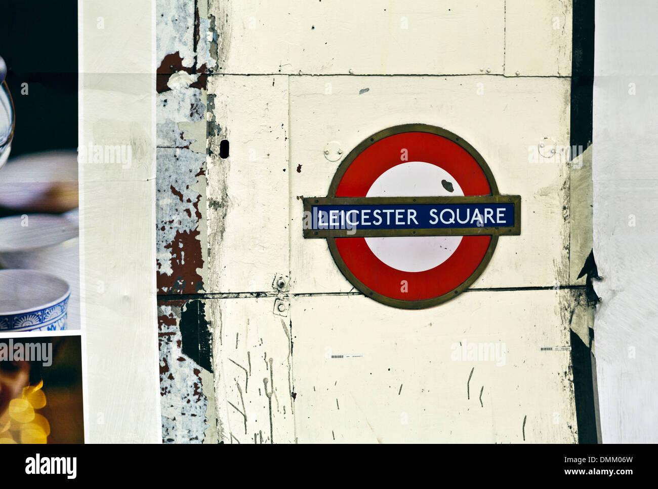 Leicester Square tube station, London Underground, England - Stock Image