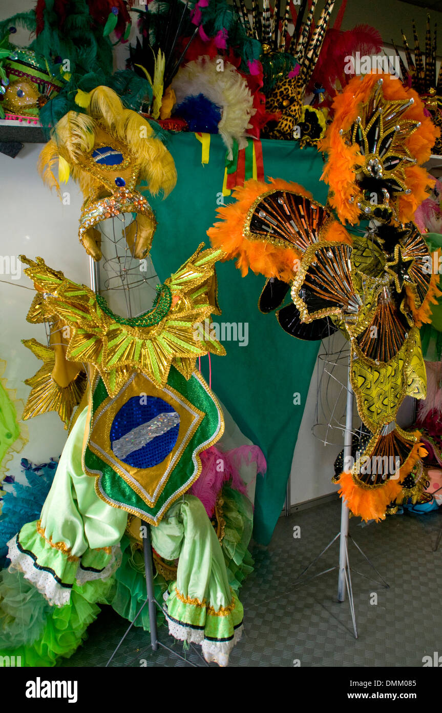 A shop selling the famous Brazilian carnival costumes in the
