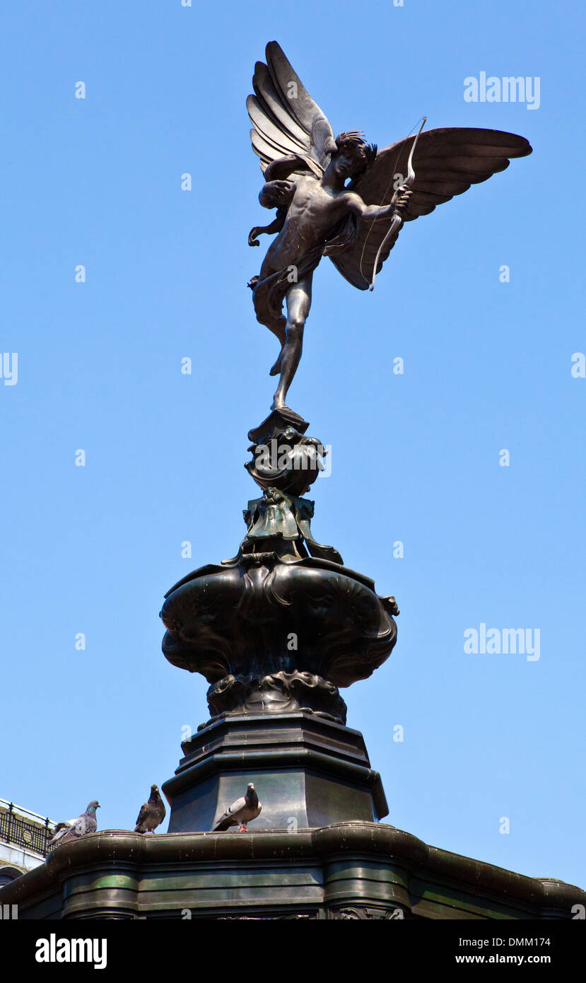 Eros Statue in Piccadilly Circus, London. - Stock Image