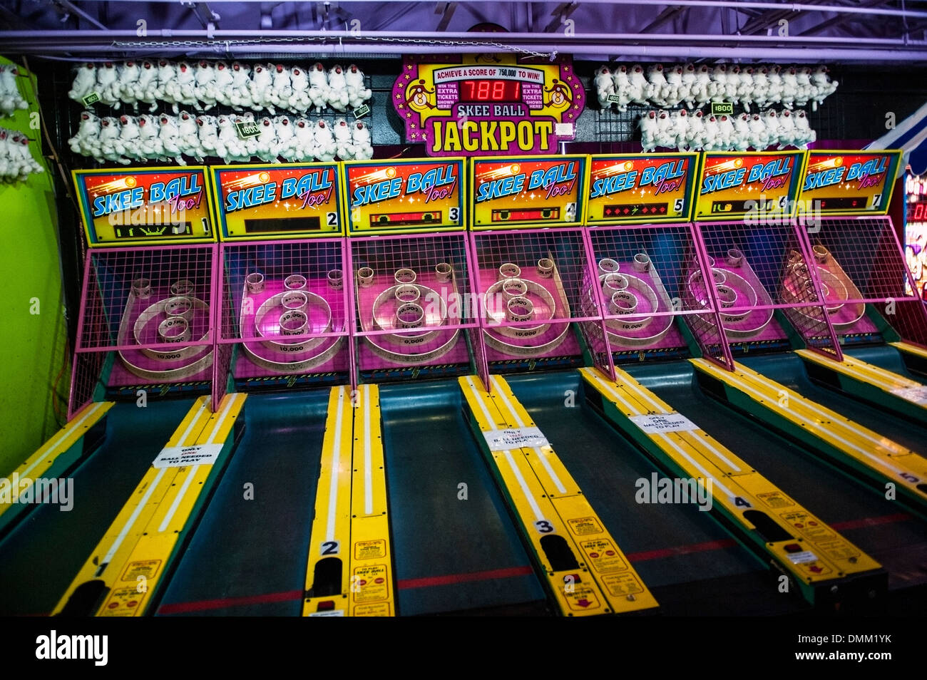 Skee ball arcade game - Stock Image