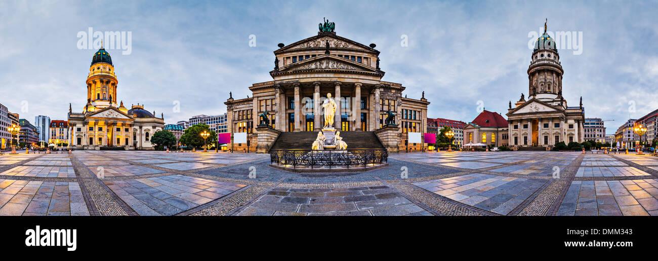 Berlin, Germany at historic Gendarmenmarkt square. - Stock Image