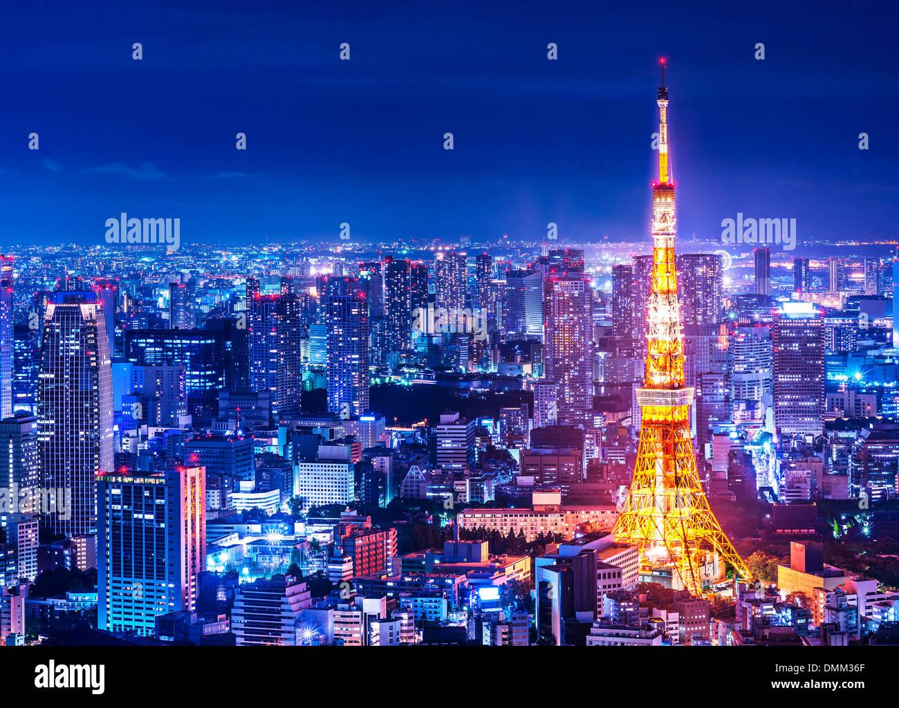 Tokyo Tower in Tokyo, Japan. - Stock Image