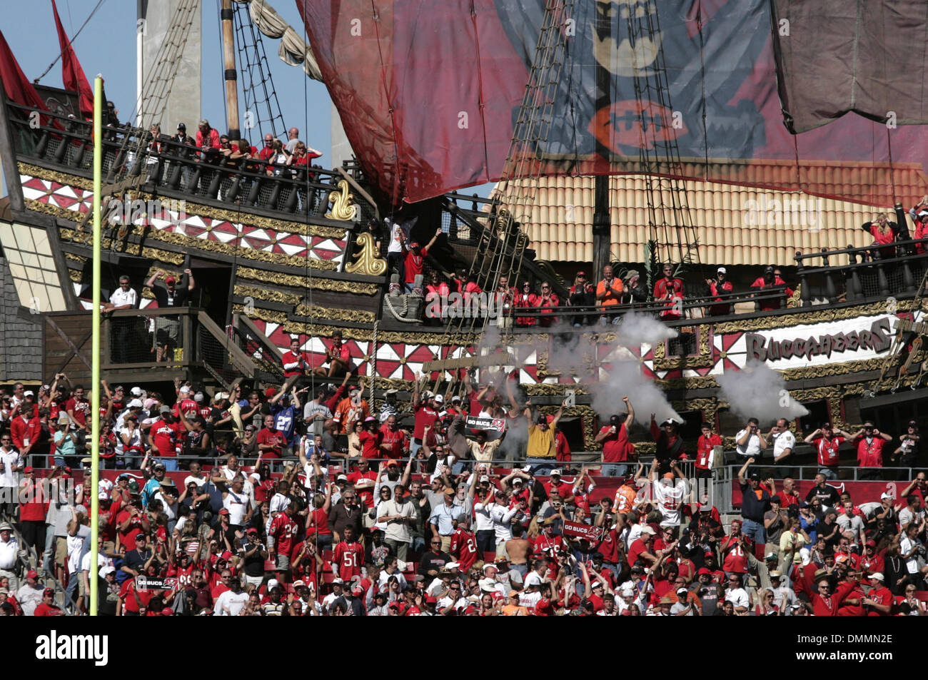 866060e2 October 18, 2009: The pirate ship in the endzone at Raymond James ...