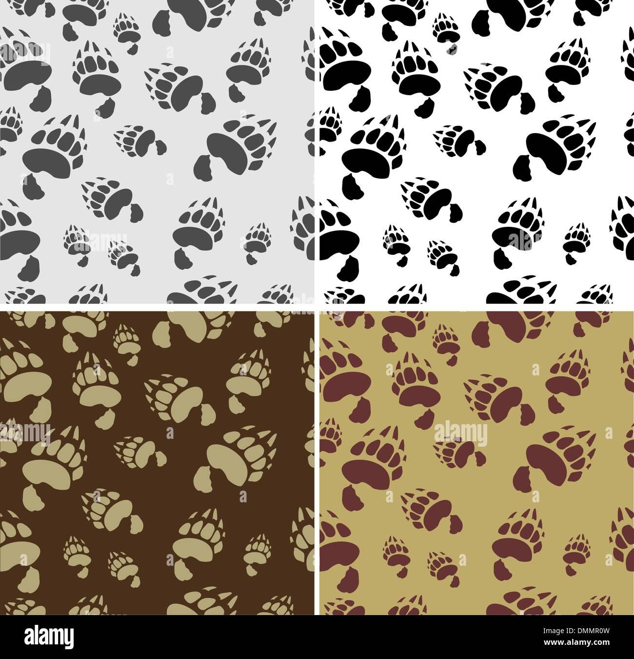 Bear tracks Seamless Texture - Stock Image