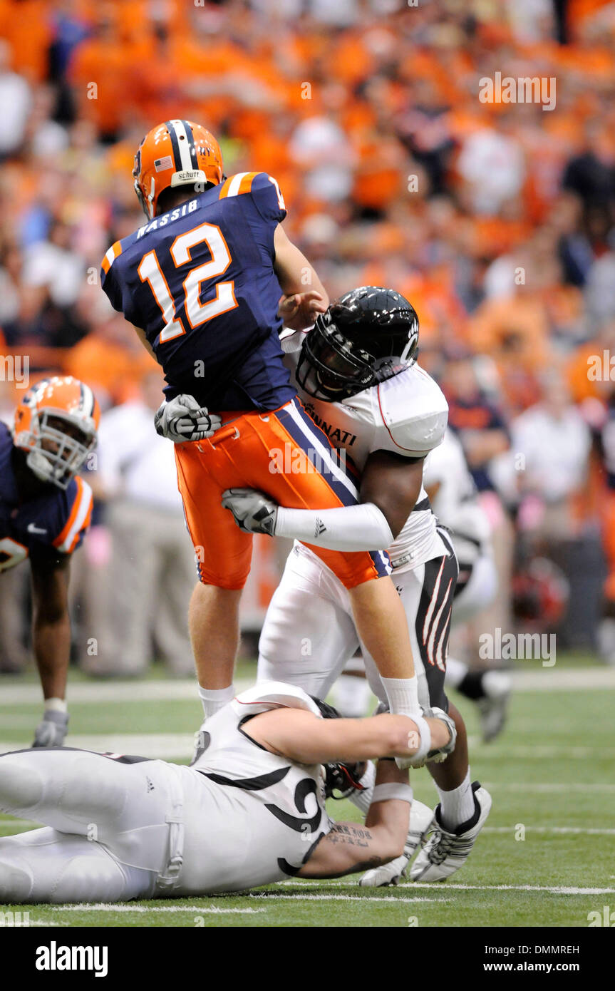October 31, 2009: The University of Cincinnati Bearcats   defeated the Syracuse University Orange 28-7 at the Carrier - Stock Image