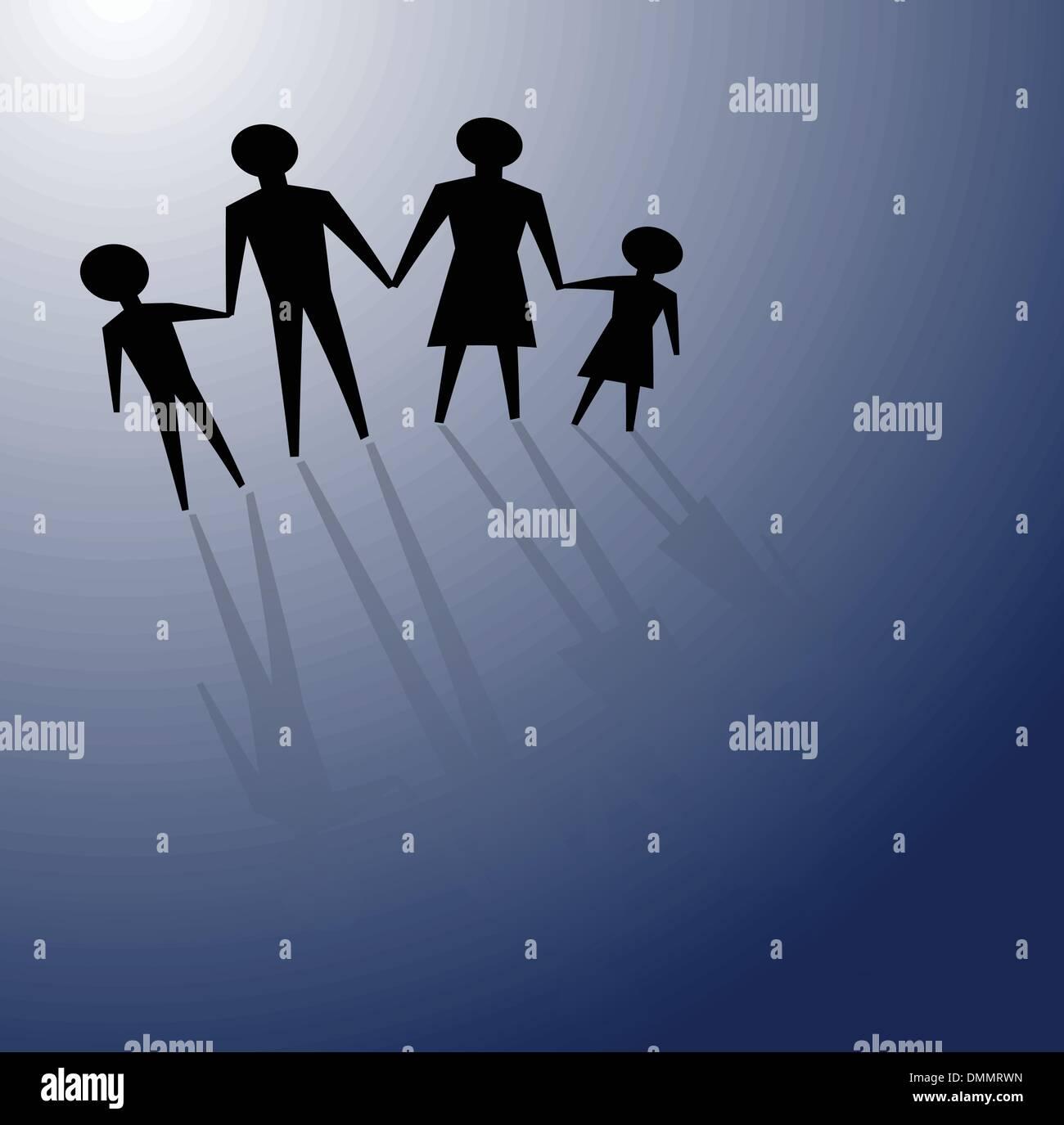 dysfunctional family - Stock Image