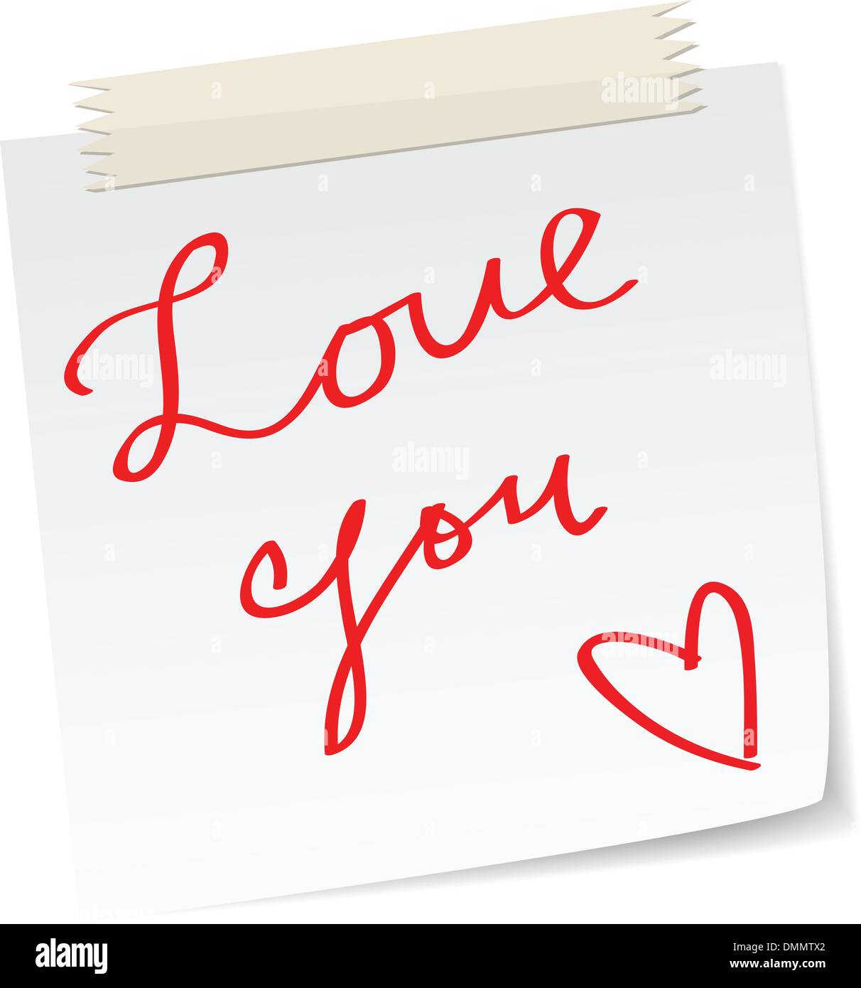 love note - Stock Image