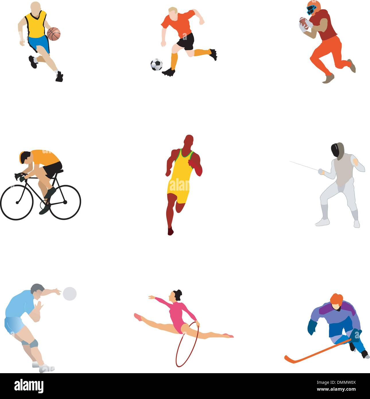 set of the different kinds of sport - Stock Vector