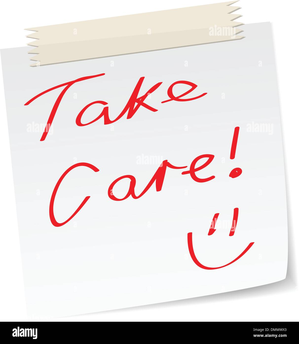 take care note - Stock Image