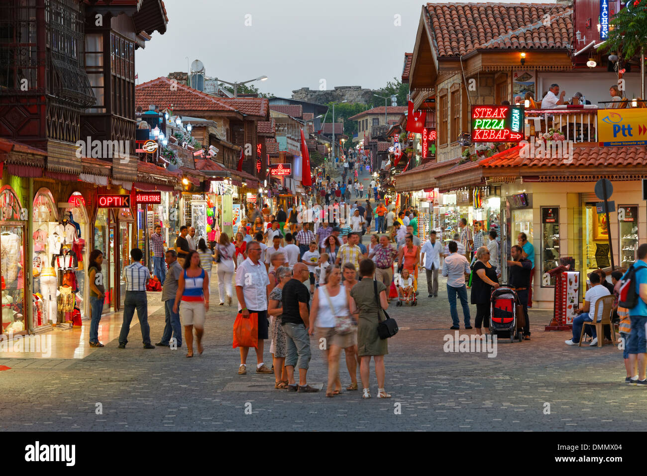 turkey side shops in the old town at dusk stock photo 64383652
