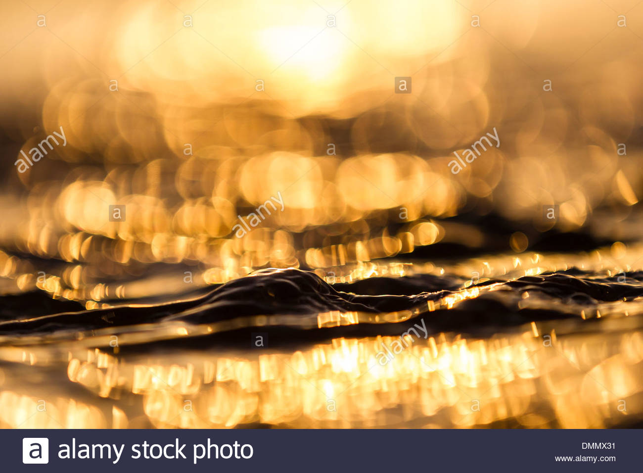 Germany, Baltic Sea, Bay of Luebeck, wave during sunrise Stock Photo