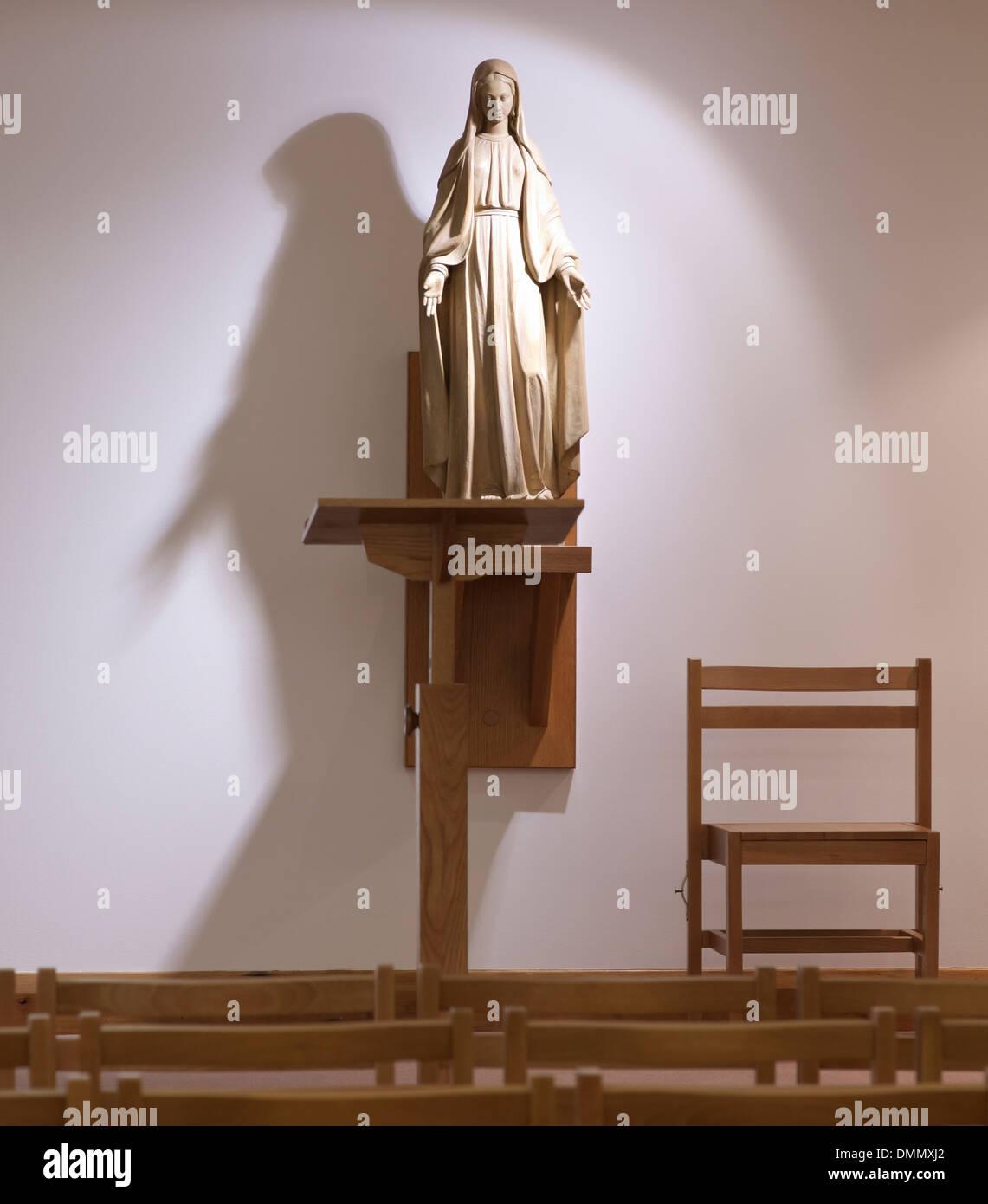 Mary virgin religion Christian Christianity holy spirit faith bible worship - Stock Image