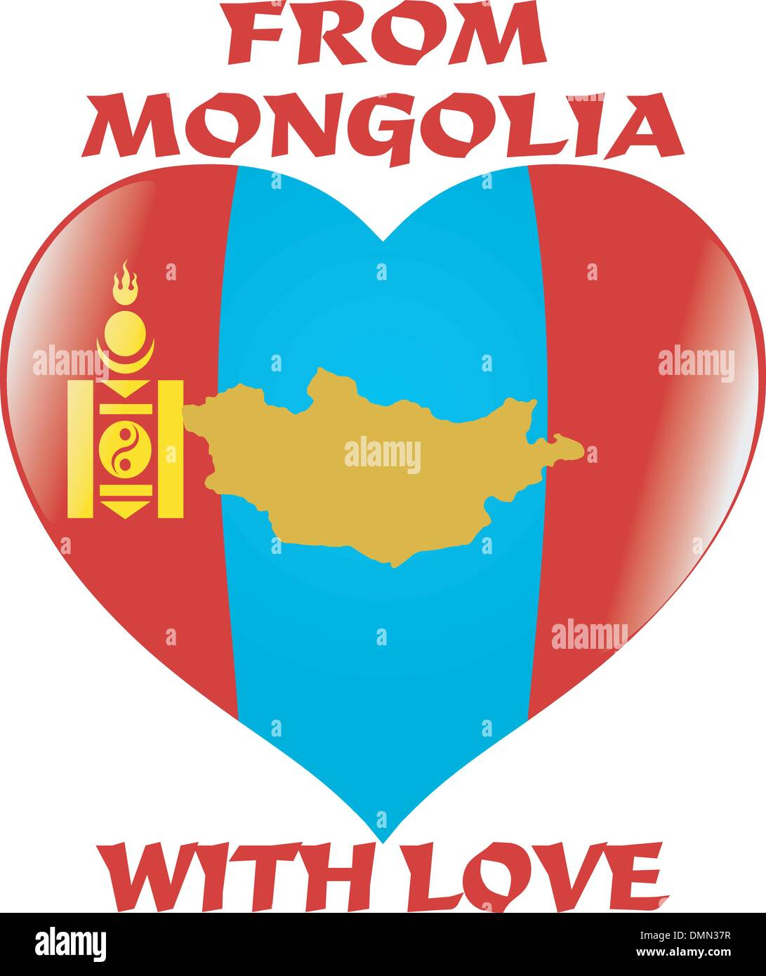 from Mongolia with love - Stock Vector