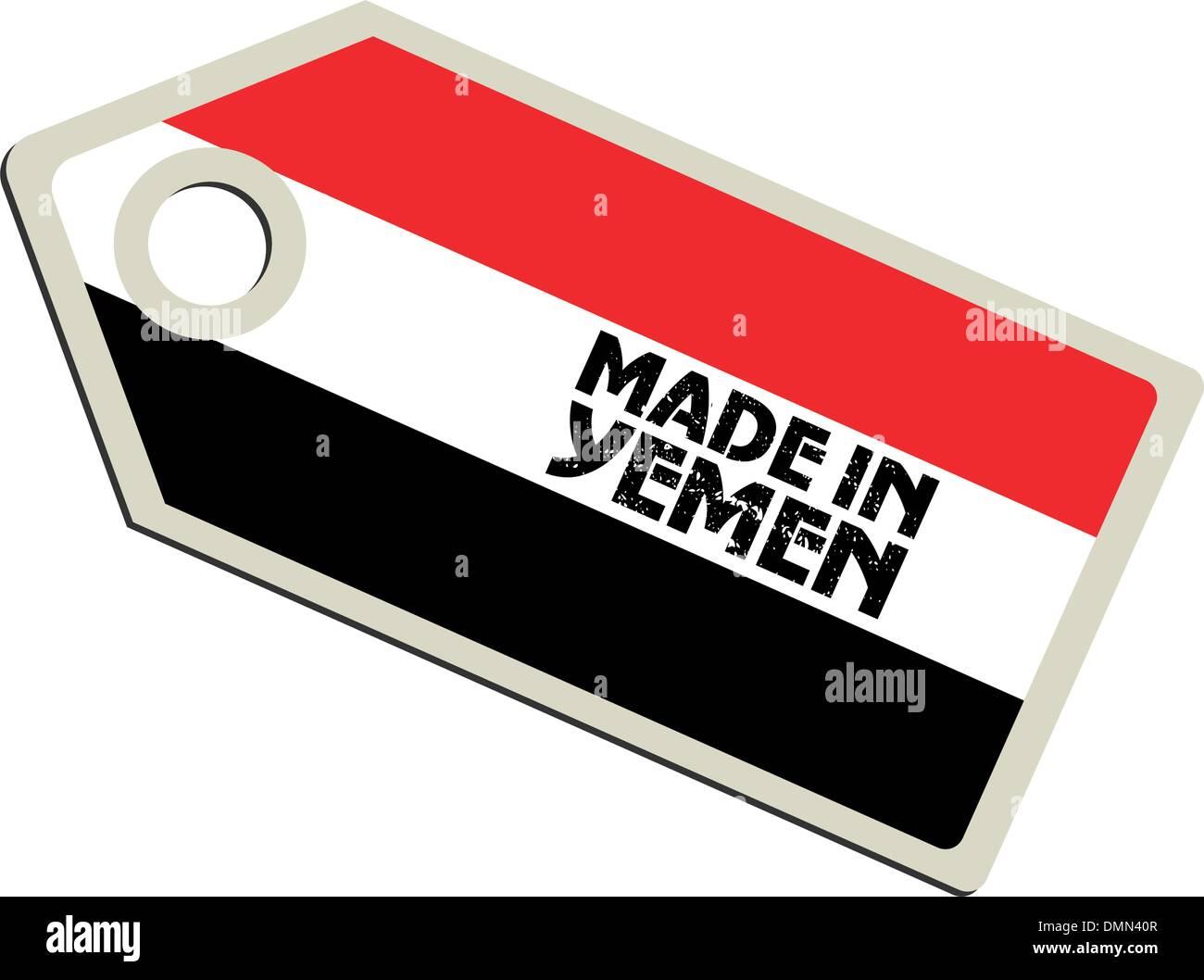 vector label Made in Yemen - Stock Vector