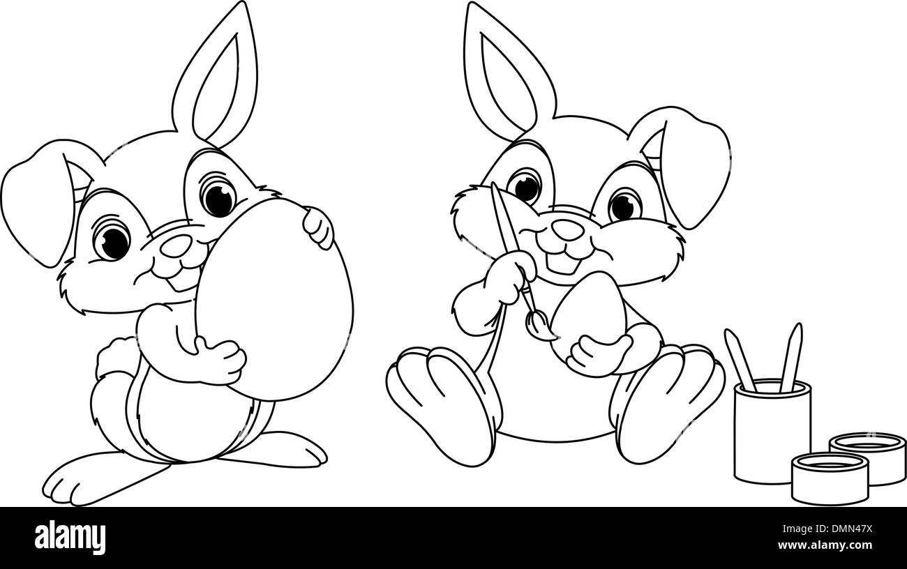 9 Places for Free Easter Bunny Coloring Pages | 816x1300