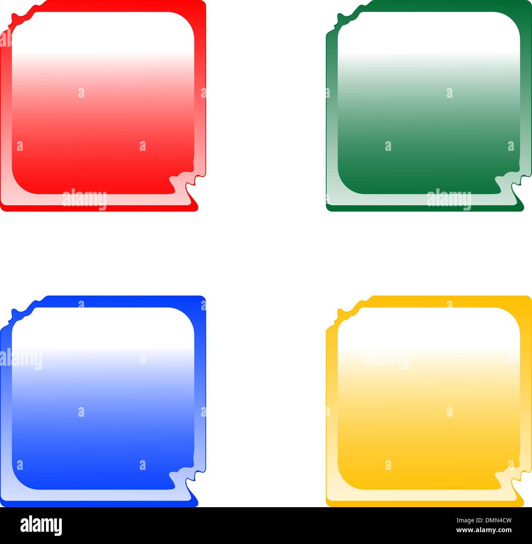 deformed web button set - Stock Image