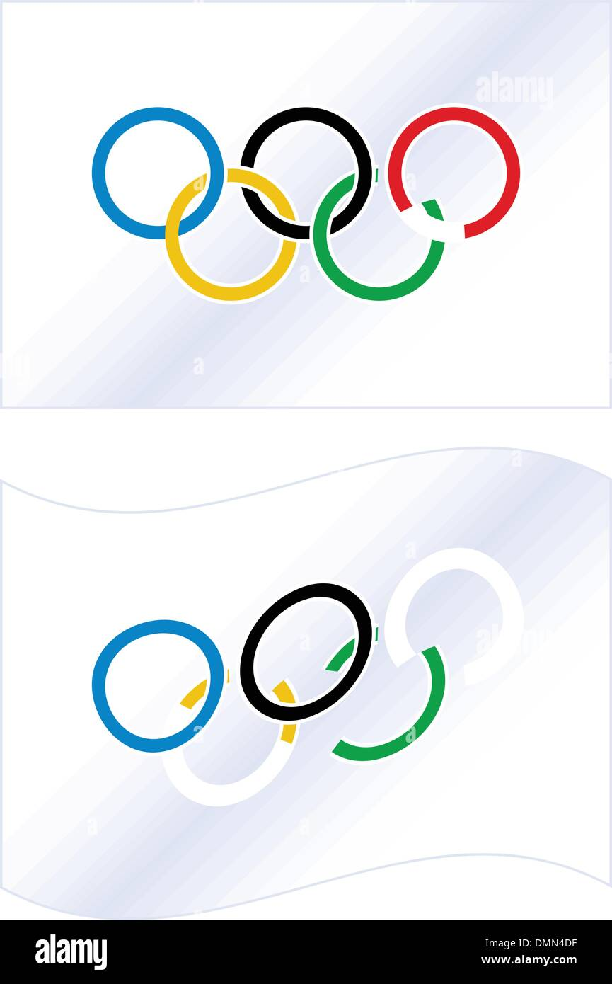 vector Olympic flag - Stock Image