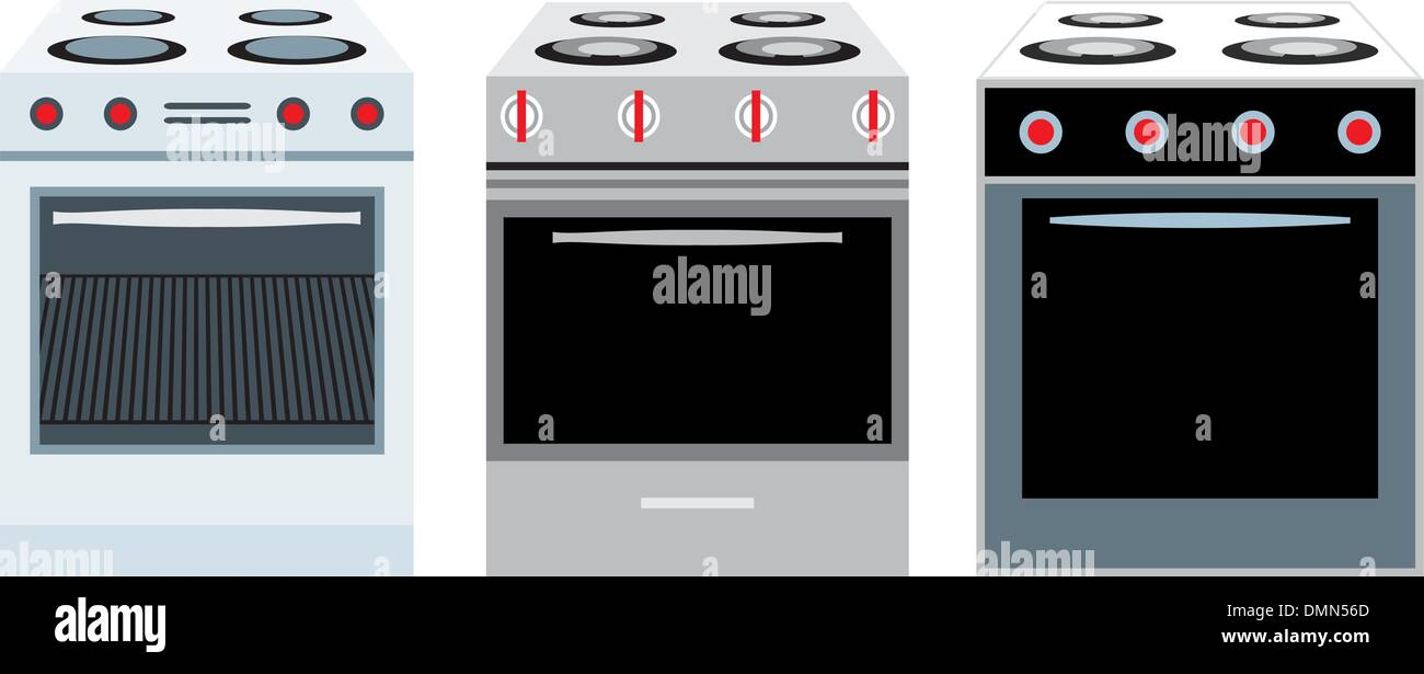Cookers. three different kinds - Stock Image