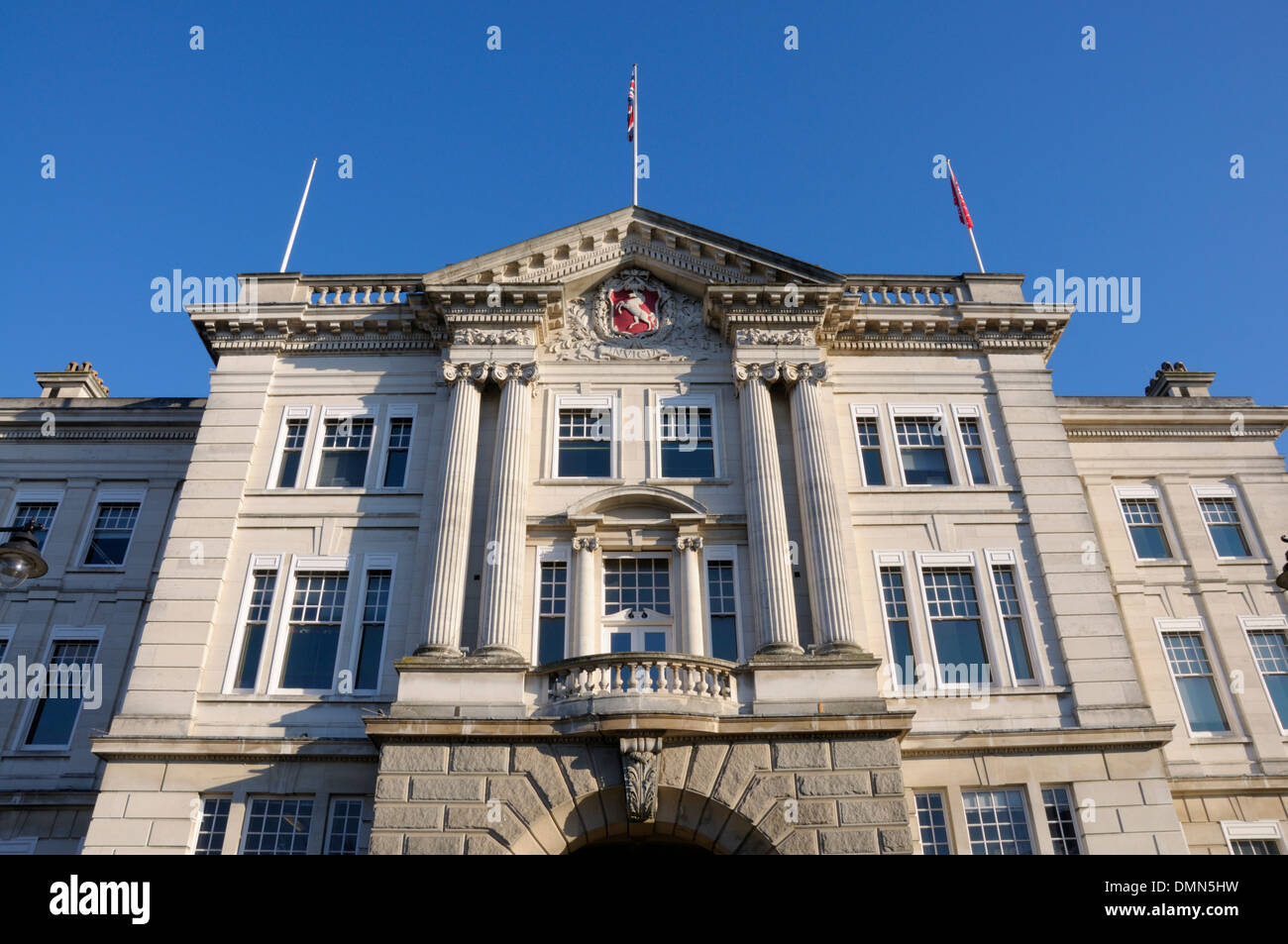 Maidstone, Kent, England, UK. County Hall / Sessions House. HQ of the Kent County Council - Stock Image