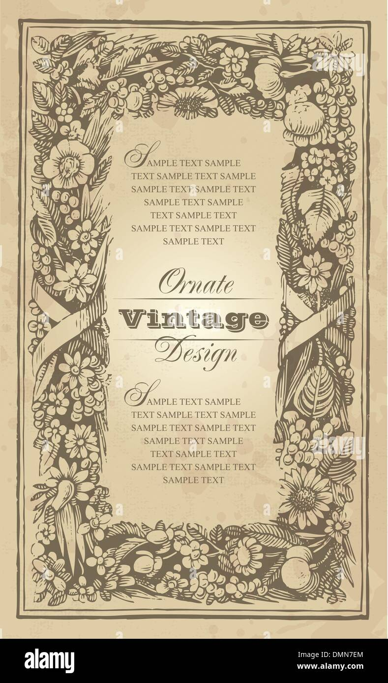 Vintage frame design (vector) - Stock Image