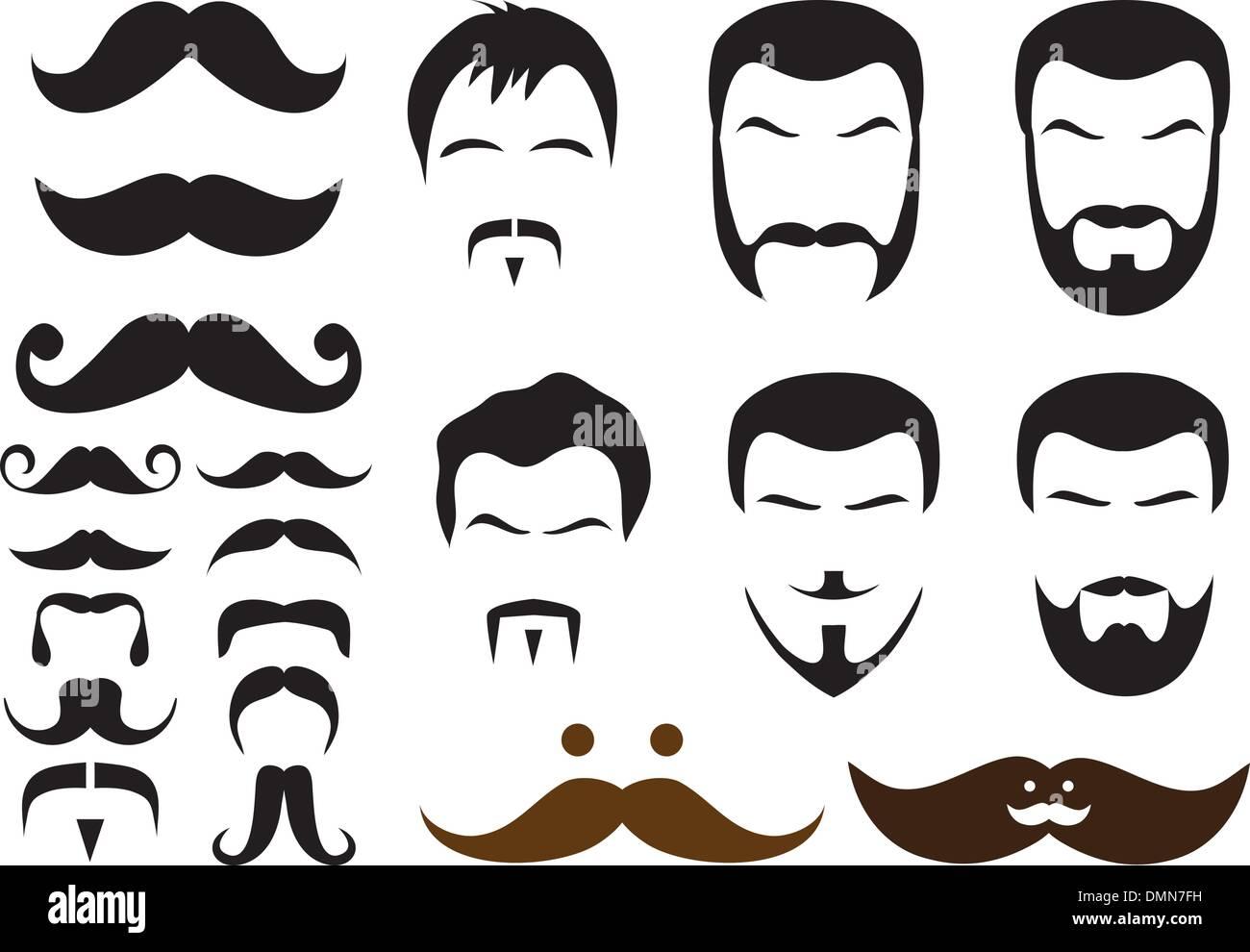 Pleasing Mustache And Beard Styles Vector Stock Vector Art Illustration Schematic Wiring Diagrams Amerangerunnerswayorg