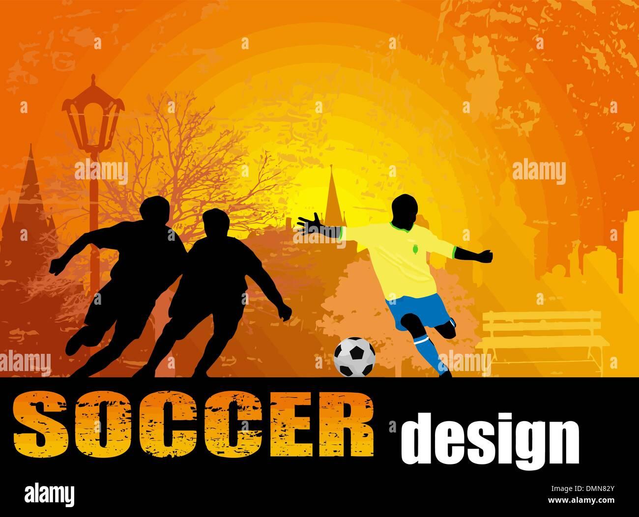 Soccer poster - Stock Vector