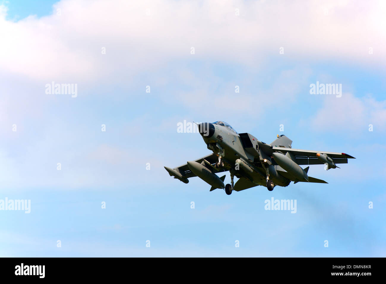 Panavia Tornado IDS 8306 Royal Saudi Air Force landing at RAF Coningsby - Stock Image