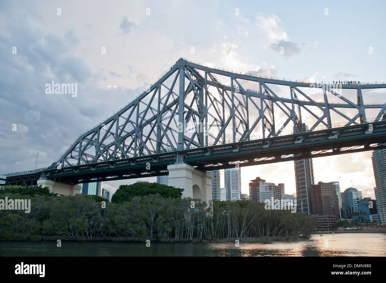Story Bridge in early morning near Kangaroo point lookout Queensland Australia - Stock Image
