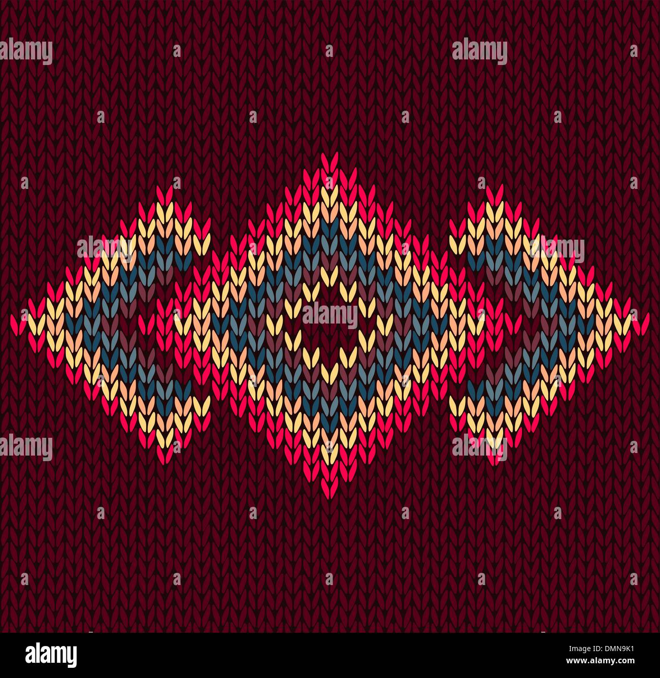 Style Abstract  Trendy Seamless Symmetric Ethnic Geometric Color - Stock Image