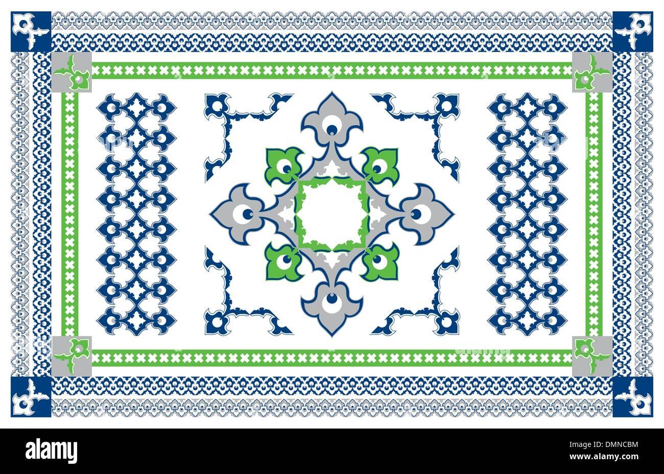 Arabic Style Carpet Design - Stock Vector