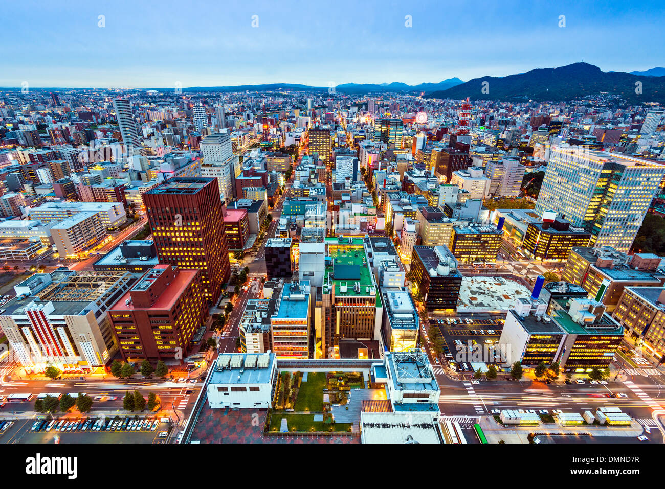 Sapporo, Japan cityscape at the Central Ward. - Stock Image