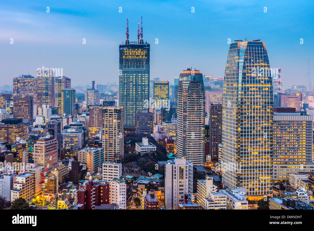 Tokyo, Japan cityscape and office buildings in Minato Ward. Stock Photo