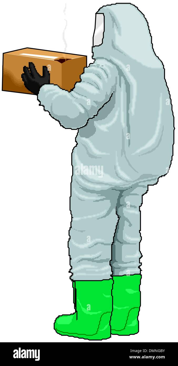 Radiation suit - Stock Image